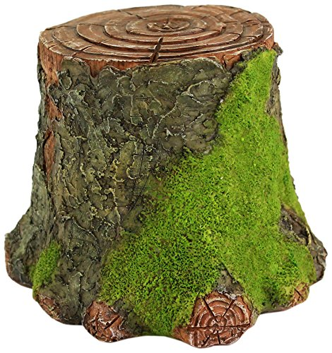 Top Collection Miniature Fairy Garden and Terrarium Decorative Mossy Tree Stump Display Riser