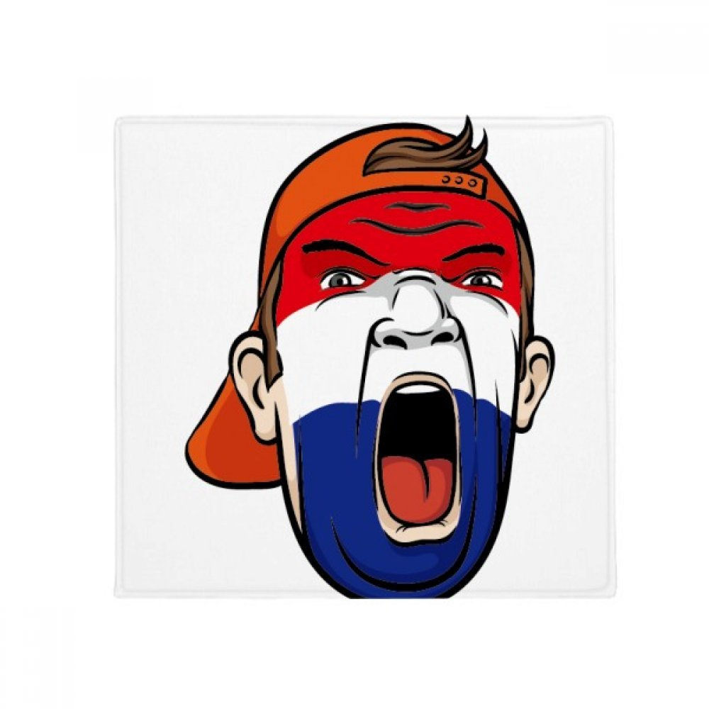 DIYthinker Netherlands Flag Facial Makeup Mask Screaming Cap Anti-Slip Floor Pet Mat Square Home Kitchen Door 80Cm Gift