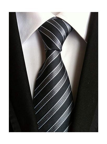 Pragmaticv Corbatas delgadas de 8 cm Corbatas de seda blanca a ...