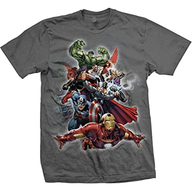 Xx-large Rockoff Trade Men/'s Simple Captain America Short Sleeve T-shirt Grey