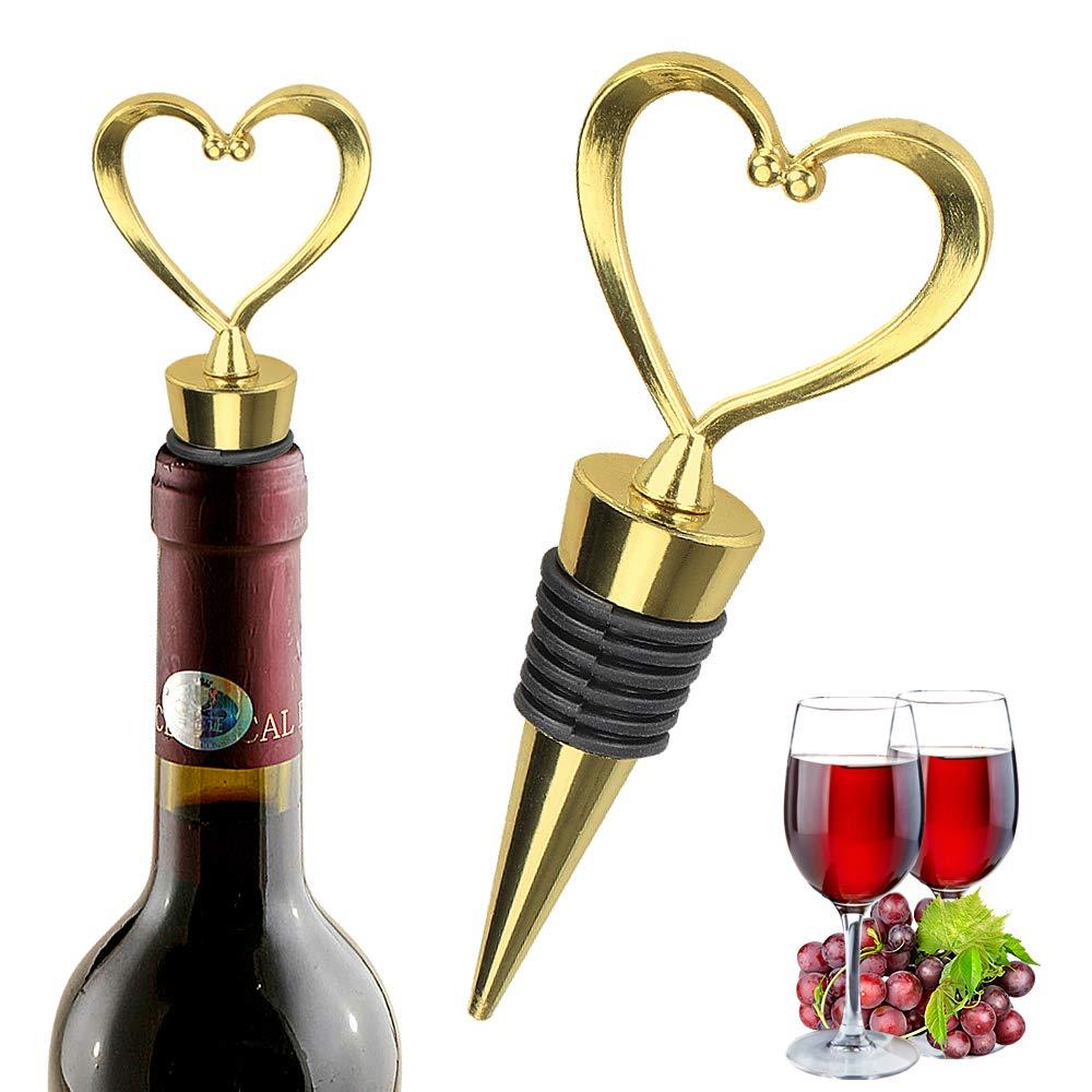 Yobansa 2 pcs Zinc Alloy Copper Plating Wine Stopper,Wine Bottle Stoppers,Wine Stopper Set Style 06