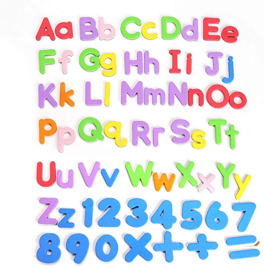 216-tlg Magnetbuchstaben Set Kinder Double Side Magnettafel Alphabet Buchstaben Klassenzimmer P/ädagogisches Schaum Alphabet ABC Magnete Spielzeug F/ür Kinder Vorschulalter Rechtschreibung Lernen
