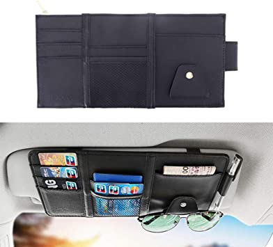 Premium Sun Visor Organizer Holder Storage for Auto-Car-Truck Interior