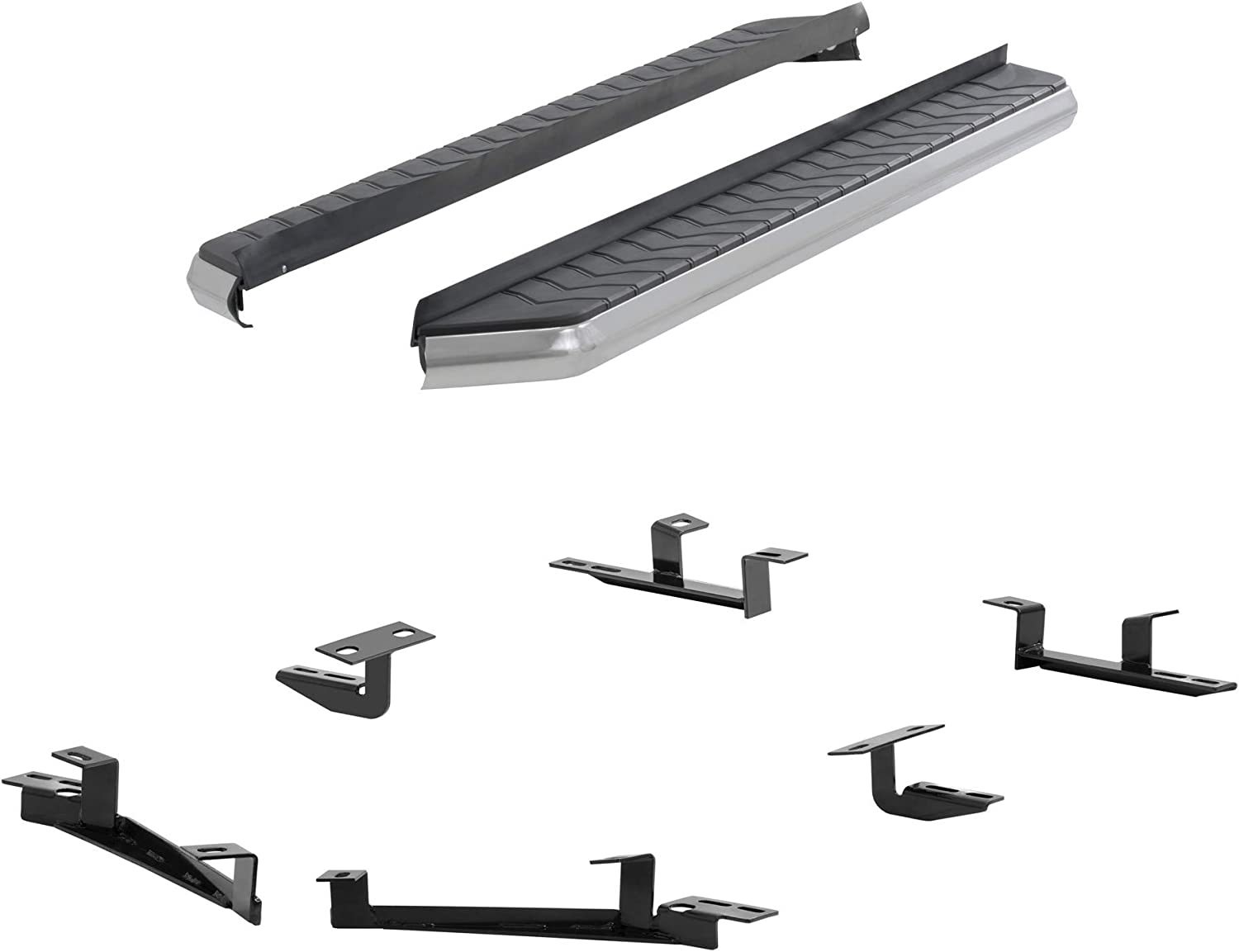ARIES 2051014 AeroTread 70-Inch Polished Stainless Steel SUV Running Boards Select Toyota Highlander