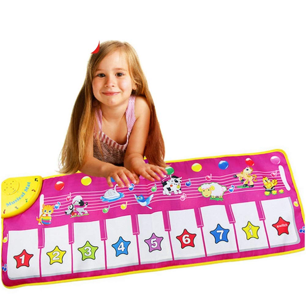 Play Keyboard Mat Animals Girls Electronic Musical Keyboard Playmat 43 Inches 9 Keys Foldable Floor Keyboard Piano Dancing Activity Mat Step And Play Instrument Toys For Toddlers Kids Children's Gift by GAOCAN-gq (Image #1)
