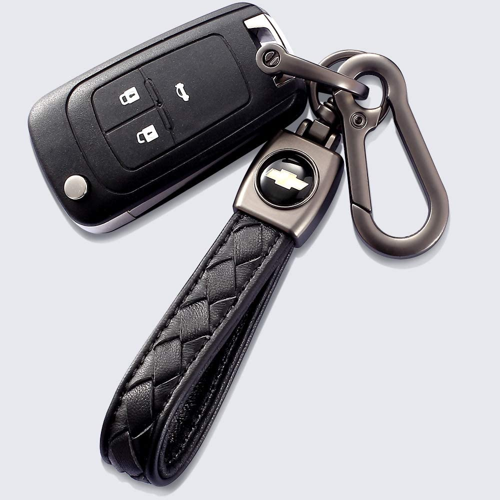 YANGYI Genuine Leather Car Logo Keychain for Honda Key Chain Accessories Keyring with Logo Black