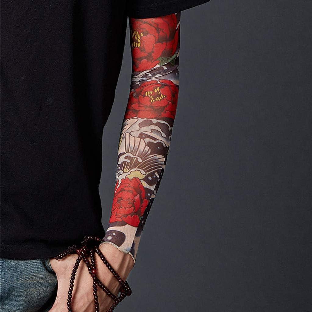 Mangas Tatuajes Falsos,Guantes de protección solar de verano Manga ...