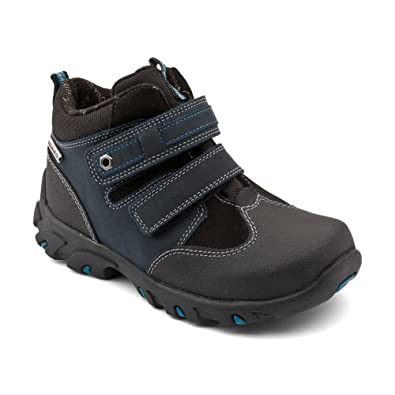 15b1ec210 Start-rite Boy's Aqua Trek Navy Blue Leather Boots G S 6 1/2: Amazon ...