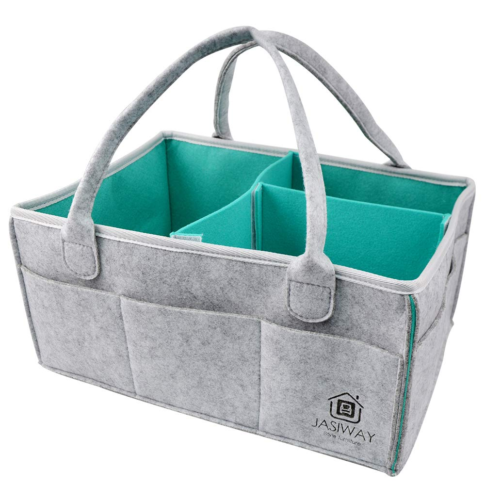 for Diapers Wipes//Bibs//Blankets//Clothes//Breast Pump//Toys etc Baby Diaper Caddy Storage Bag Organizer Bin Travel Tote Bag Basket with Handle