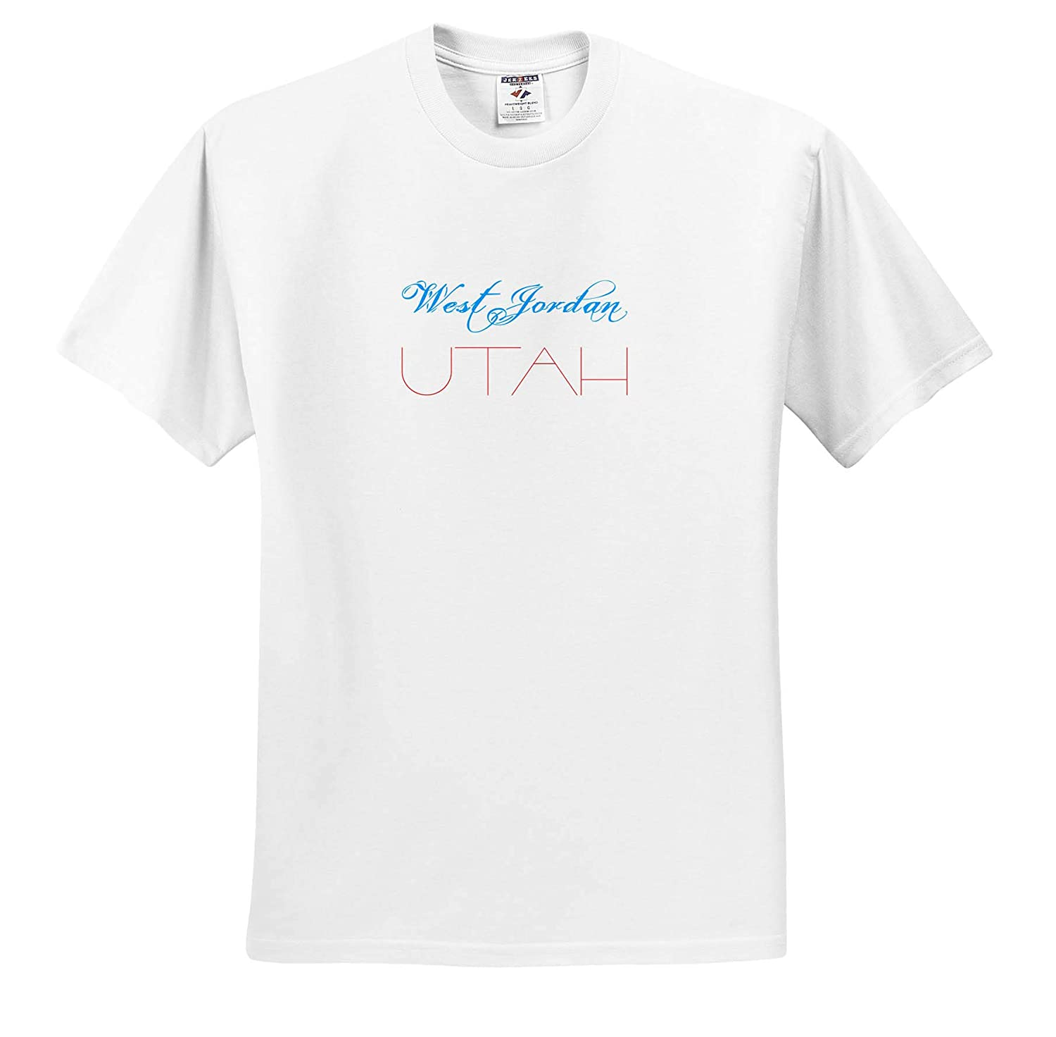 American Cities red Colors Utah Elegant Text of Blue 3dRose Alexis Design T-Shirts American Cities West Jorday
