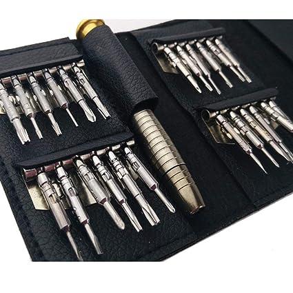 25 piezas Juego de destornilladores de precisión - Kit de herramientas de apertura para reparación portátil