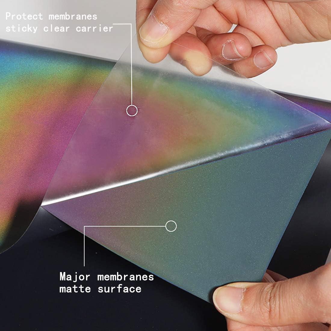 Shirt guangyintong Rainbow Reflective Heat Transfer Vinyl Roll for T Reflective Rainbow 12 feet