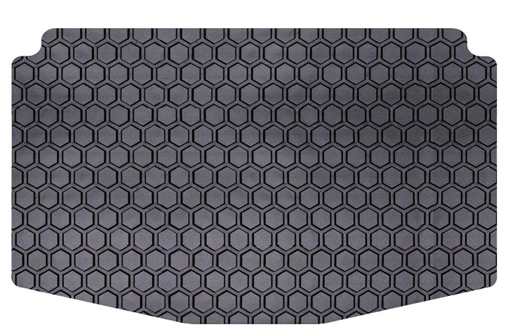 Gray Custom Fit Auto Floor Mats for Select Mitsubishi Outlander Models Intro-Tech MI-628R-RT-G Hexomat Second Row 2 pc Rubber-Like Compound