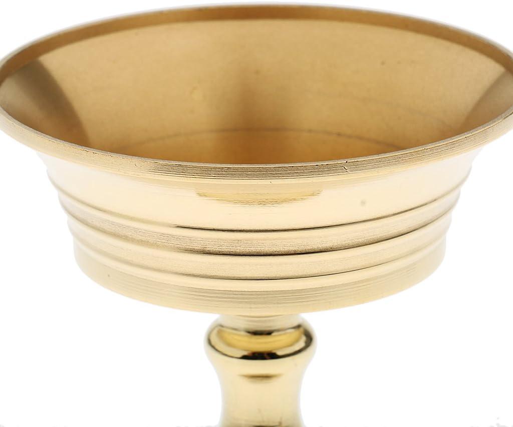 PETSOLA Bouddhiste Titulaire Ghee Lampe Titulaire Tib/étain Beurre en Laiton Lampe /À Huile M/étal Artisanat Calibre 5.5cm