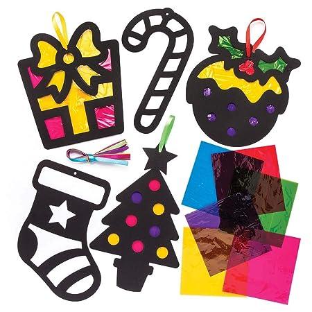 Baker Ross Bastelsets Weihnachten Mit Buntglaseffekt Für Kinder