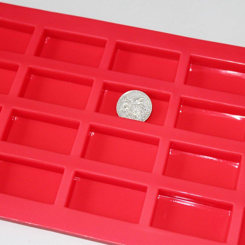 X-Haibei 20/rechteckig Mini G/äste Seife Schokolade Candy Form Silikonform