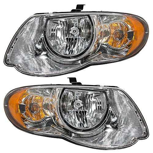 Driver and Passenger Headlights Headlamps Replacement for Chrysler Van with 119