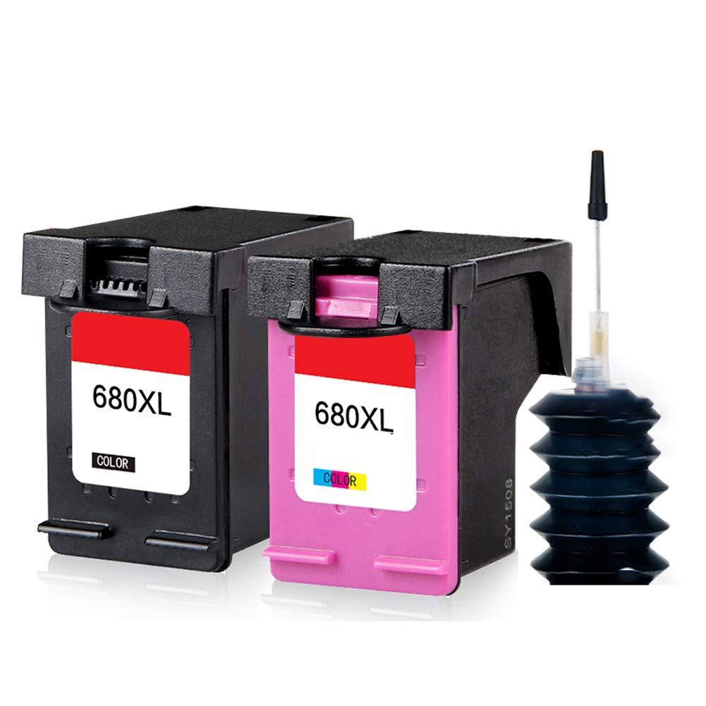 GYBN - Cartucho de Tinta de Gran Capacidad para impresoras HP 680 ...