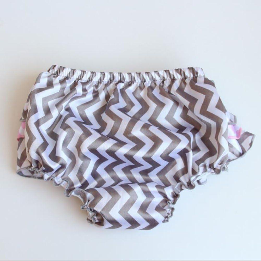 Qingsun Baby Girls Satin Ruffle Panties Briefs Bloomers Nappy Tutu Diaper Covers Layers