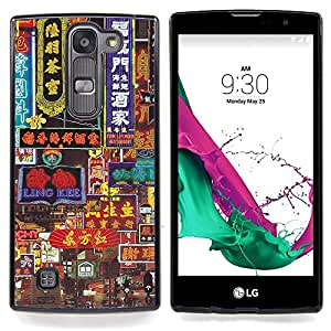 "Qstar Arte & diseño plástico duro Fundas Cover Cubre Hard Case Cover para LG G4c Curve H522Y ( G4 MINI , NOT FOR LG G4 ) (Hong Kong Oldschool Neon Signs"")"