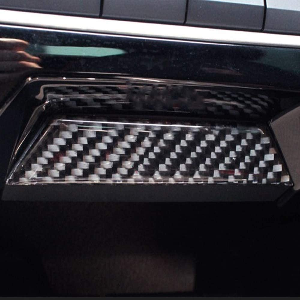 LANZMYAN Carbon Fiber Console Storage Box Cover Trim Sticker for 10th Gen Honda Civic 2016 2017 2018 2019 2020