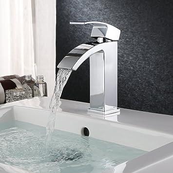 Wonderful HOMFA Waschtischarmatur Einhelbel Wasserhahn Armatur Wasserfall Für  Badezimmer Waschbecke Idea