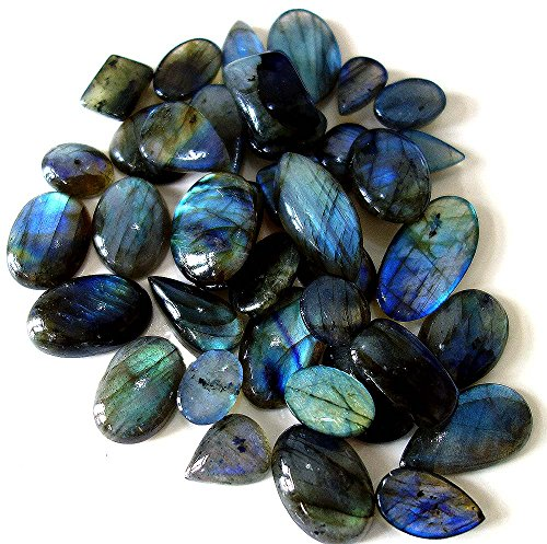 TOP QUALITY NATURAL BLUE FLASHING LABRADORITE WHOLSALE LOT MIX SHAPES LOSE GEMSTONE FROM AFRICA 249.05CTS. by HANDMADE