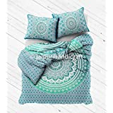 Indian Mandala Double Reversible Duvet Quilt Cover Bedding Ethnic Bohemian Throw with pillows cover