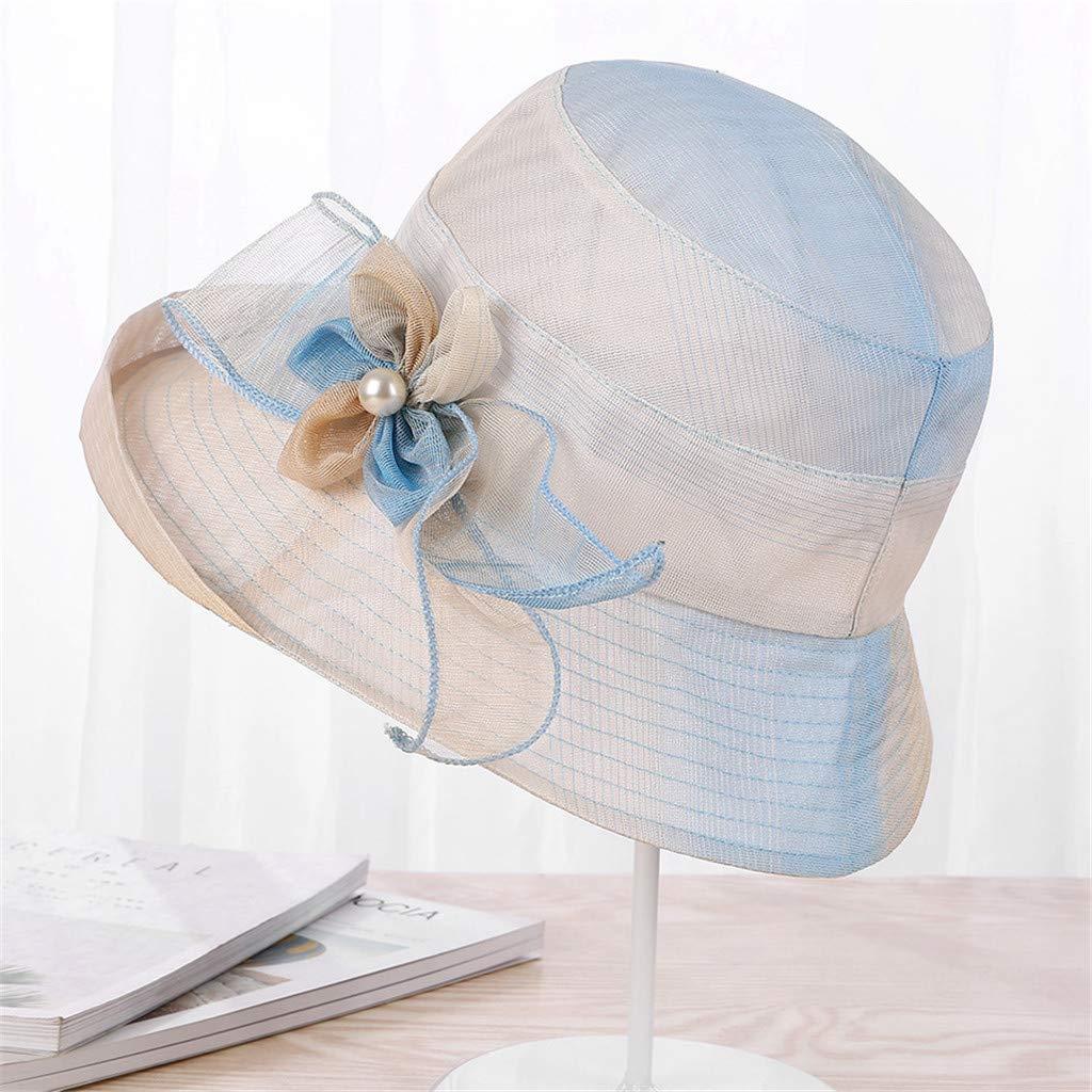 Qiiueen Sombrero De Mujer, Visera De Protección Solar Flor, Gorra ...