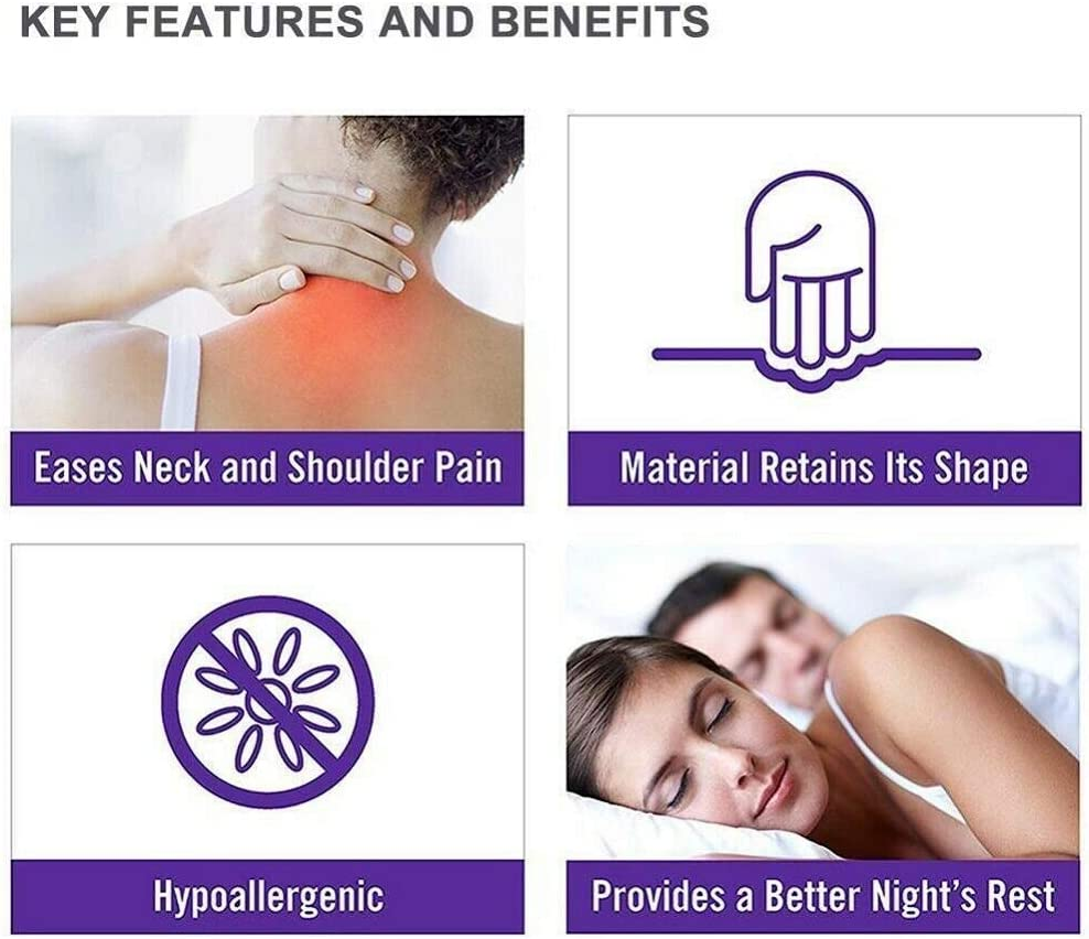 BTYY Side Sleep Assist Pillow Sleeping Pillow U-Shaped Pillow Lumbar Pillow Side Sleeper Pillow Repair Neck Shoulder Back Pain Relief Travel Home Pillow