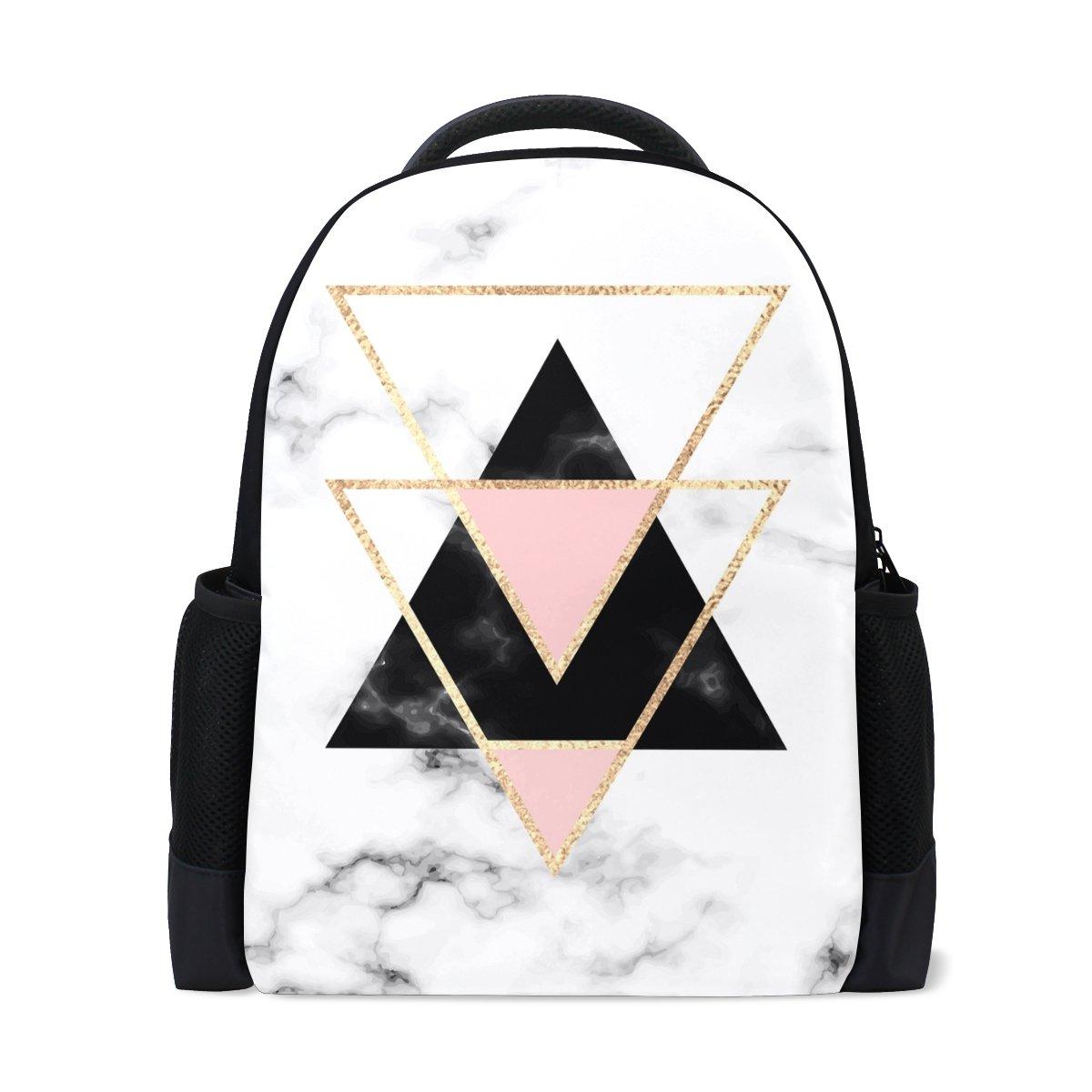 ALAZA Geometry Marble Casual Backpack Waterproof Travel Daypack School Bag