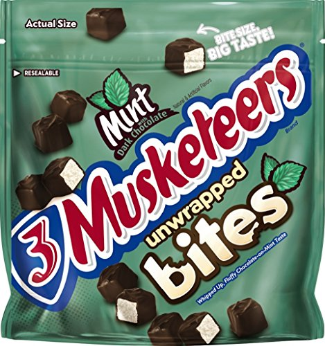 3 Musketeers Chocolate Candy (3 MUSKETEERS Mint and Dark Chocolate Bites Size Candy Bars 6-Ounce)