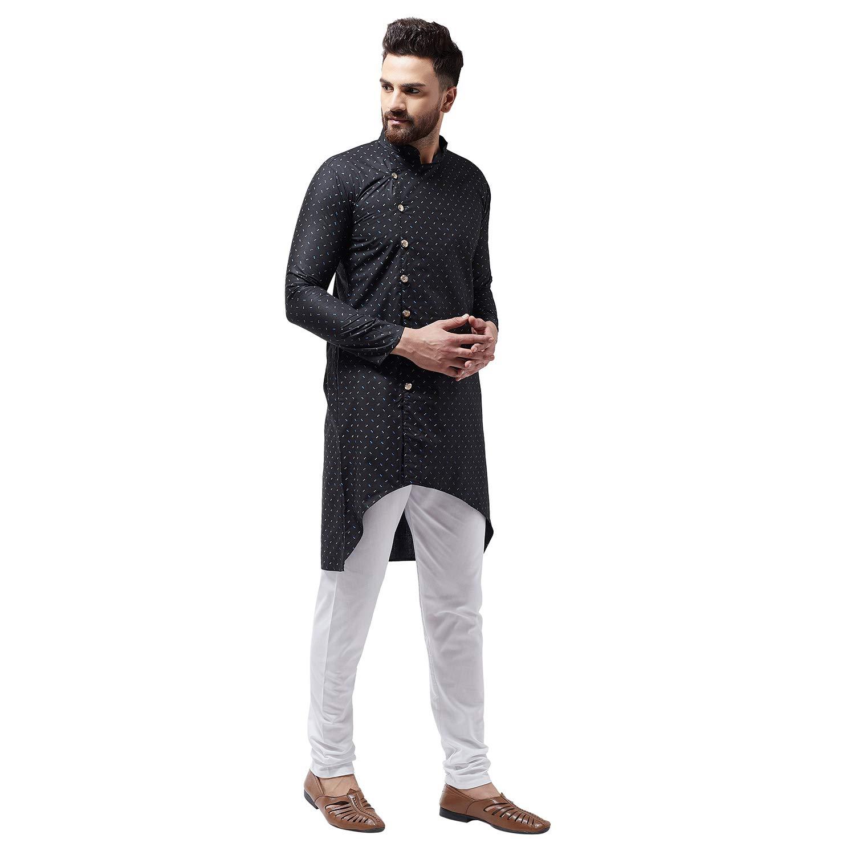 Bollywood-Indian-Kurta-Pajama-Dress-Tunic-Printed-Top-Men-Kurta-Ethnic-Wear thumbnail 5