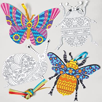 Baker Ross Kit de Adornos Colgantes con Insectos para Colorear Que ...