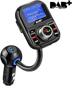 Dab Autoradio Adapter In Car Dab Dab Empfänger Mit Bluetooth Fm Transmitter Freisprecheinrichtung Car Kit Mp3 Player Empfänger Portable Digital Radio Broadcast Auto