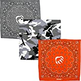 Wolverine 3 Piece Bandana Set 22 Inch Square Assortment Camo (Camouflage)