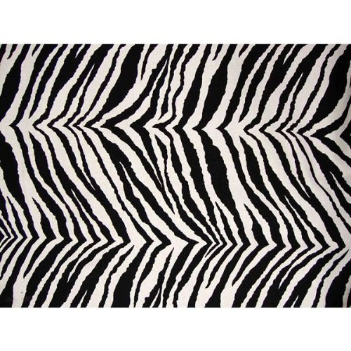 (Zebra Futon Cover 28'' Chair Ottoman, Proudly Made in USA)