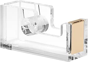 OfficeGoods Acrylic & Gold Tape Dispenser – Beautiful Desk Accessory Classically Designed for The Office or Home