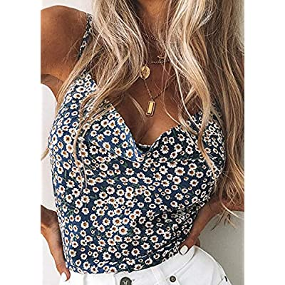 Womens Silk Spaghetti Strap Camisole Sexy Adjustable Satin Slip Soft Vest Leopard Floral Tank Top for Women at Women's Clothing store