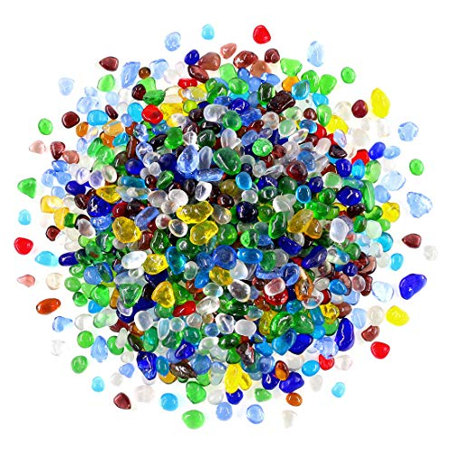 - Swpeet 1 Pound Multicolor Lampwork Glass Small Tumbled Chips Stone Gemstone Chips Crushed Pieces Irregular Shaped Stones Crystal Chips Stone Perfect for Jewelry Making Home Decoration
