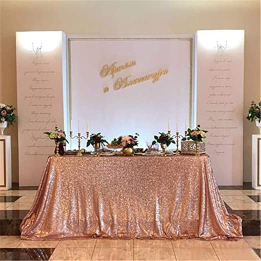 Age 40 Rose Gold Glitter Table Decoration