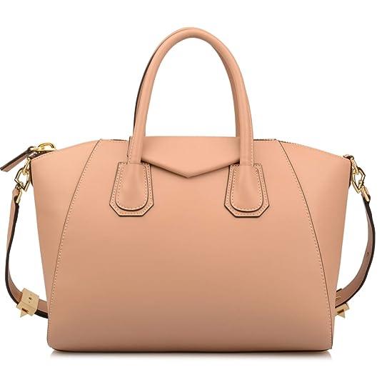 Ainifeel Women's Genuine Leather Everyday Purse Top Handle Handbags Shoulder Bags by Ainifeel