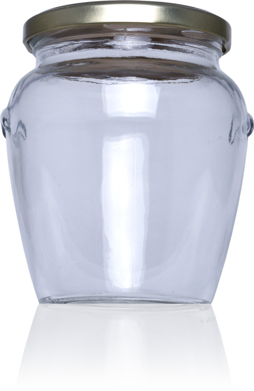 Tarro de cristal conservas Orcio 580 ml Alto - Medio pack 16 u. Tapas Rioja
