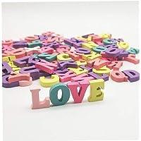 100 Piezas De Dulces Colores Mezclados del Alfabeto