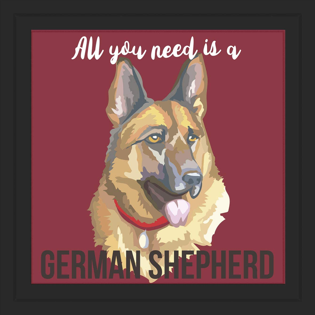 Gifts for German Shepherd Lover | Unique 7x7 Tile Artwork for Dog Owner| German Shepherd Themed Art Print Ideal for Home Decor | Perfect for Men, Women, and Kids