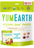 YumEarth Organic Natural Sour Jelly Beans, 10 Snack Packs, 20g Each