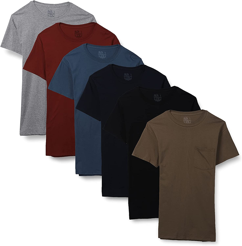 Fruit of the Loom Men's Short Sleeve Pocket T-Shirt