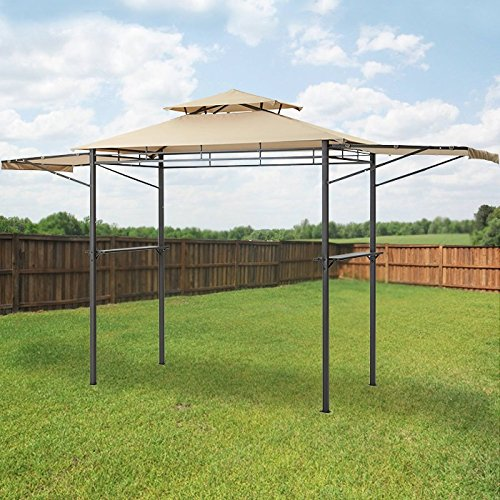 Garden Winds Adjustable Awning Grill Gazebo Replacement Canopy Riplock 350 Ebay