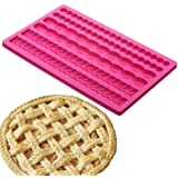 Palksky Pie Crust Impression Mat/Fondant Molds Silicone Mold Cake Decoration Molds for Chocolate Fondant Sugarcraft…