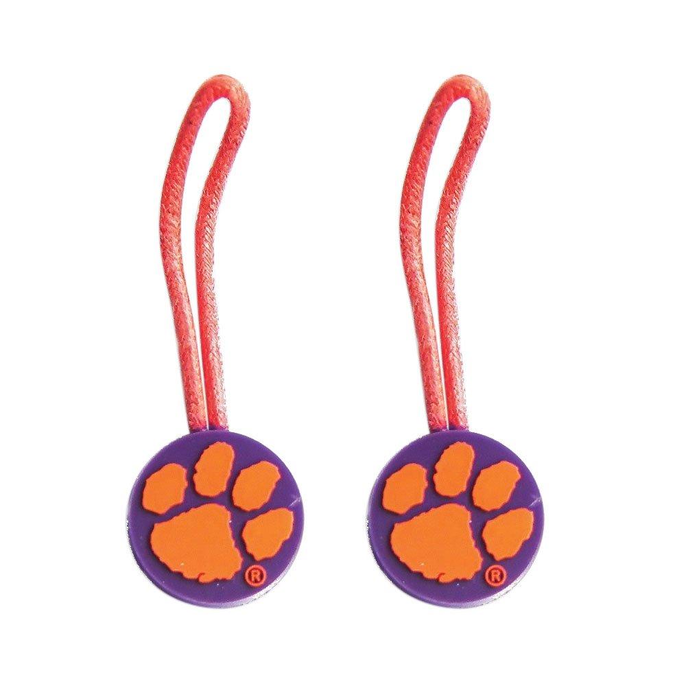 Clemson Tigers Zipper Pull Charm Tag Set Luggage Pet Id Ncaa